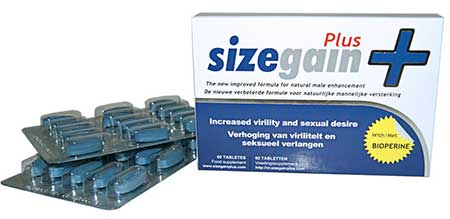 SizeGain Plus penis enlargement pills